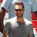 Adam Levine Stops By The Grove For An Interview