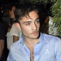 Ed Westwick Parties It Up In Italy