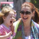 Alyson Hannigan Stops By The Brentwood  Country Mart With Her Family