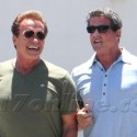 Arnold Schwarzenegger And Sylvester Stallone Grab Breakfast In Beverly Hills