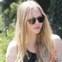 Amanda Seyfried Takes Her Dog For A Walk