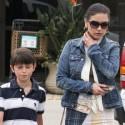 Catherine Zeta-Jones Runs Errands With Son Dylan