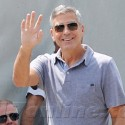 George Clooney Draws A Crowd At The RIva Shipyard In Italy