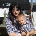 Selma Blair Carries Baby Arthur In Studio City