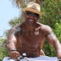Shemar Moore Goes Biking In Miami