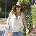 Alyson Hannigan Spends The Day With Her Family