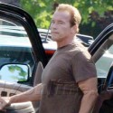 Arnold Schwarzenegger Goes For A Run