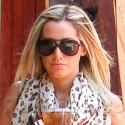 Ashley Tisdale Grabs Take Out In Beverly Hills