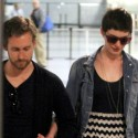 Anne Hathaway And Fiance Hold Hands At The Airport