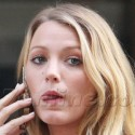 Blake Lively Enjoys Champagne On Gossip Girl Set