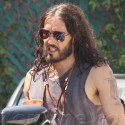 Russell Brand Leaves His Shoes At Home