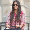 Camila Alves Arrives Back At Her Hotel With Her Kids In NYC