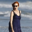 Marcia Cross Hits The Beach With Daughters Eden And Savannah