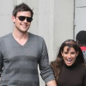 Lea Michele Cozies Up To Boyfriend Cory Monteith On Set
