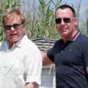 Elton John And David Furnish Hit The Stores In France