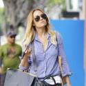 Lauren Conrad Strolls With Shopping Bags