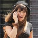Lea Michele Gets Animated On The <em>Glee</em> Set