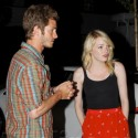 Emma Stone Takes Andrew Garfield To A Birthday Dinner