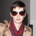 Anne Hathaway Arrives At LAX