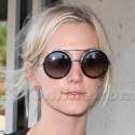 Ashlee Simpson Arrives At LAX In Black Leather