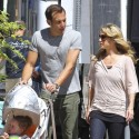"Christina Applegate And Will Arnett Shoot Scenes For Their Sitcom ""Up All Night"""