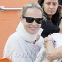Kristin Chenoweth Sports A Neck Brace And A Smile