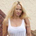 Pamela Anderson Rehearses For DWTS