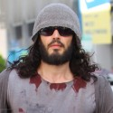 Russell Brand Sports Crazy Style In LA