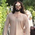 Russell Brand Goes For A Stroll Around Hollywood