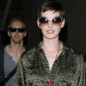 Anne Hathaway And Fiance Land At LAX