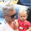 Pink And Daughter Willow Get Lunch In NYC