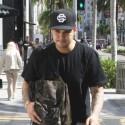 Rob Kardashian Rushes Through Beverly Hills