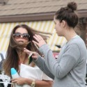 Maria Shriver And Katherine Hang Out In Brentwood