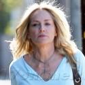 Sharon Stone Strolls Through Beverly Hills