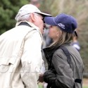 Calista Flockhart And Harrison Ford Share A Smooch On The Soccer Field