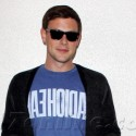 Cory Monteith Waits For A Ride At LAX