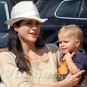 Selma Blair And Arthur Visit A Pumpkin Patch