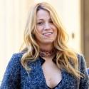 Blake Lively Smiles On The Set Of <em>Gossip Girl</em>