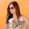 Minka Kelly Picks Up Her Dog In Beverly Hills