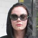 Rose McGowan Puckers Up At The Gym