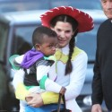 Sandra Bullock Takes Son Louis Trick Or Treating