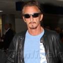 Sean Penn Strolls Through LAX Following Madonna's Concert