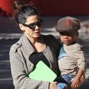 Sandra Bullock Steps Out With Little Louis