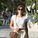 Eva Mendes Out Running Errands In Weho