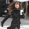 Lea Michele Shoots <em>Glee</em> In N.Y.C.