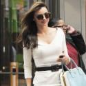 Miranda Kerr Stops By An Office Building In NYC