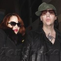 Marilyn Manson And His Lady Love Land In L.A.
