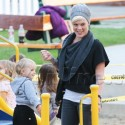 Pink And Daughter Willow Play At The Park
