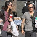 Pete Wentz And Meagan Camper At The Farmers Market With Bronx