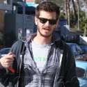 Andrew Garfield Goes Out And About In Venice